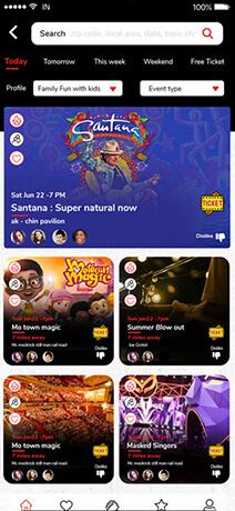 Events main screen